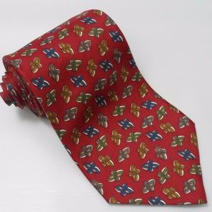 CHRISTIAN DIOR Mens Abstract Pattern Silk Necktie